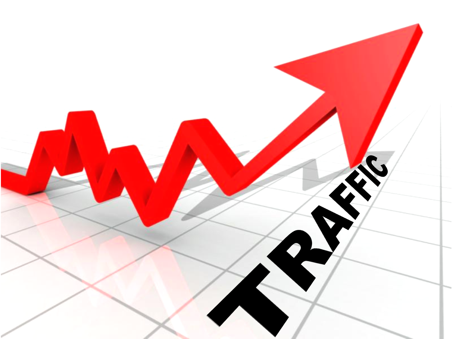 There is a thick line between Traffic and Relevant Traffic