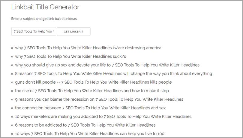 Linkbait title generator 2