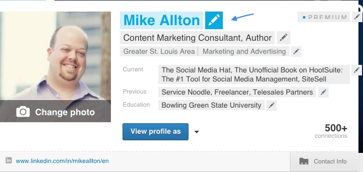 linkedin-profile-edit-mode