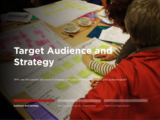 target the audience