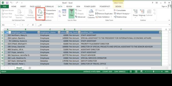 Socrata open data screenshot