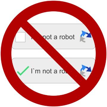 Avoid captcha
