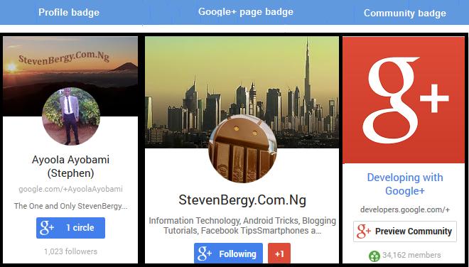 Google+ badges
