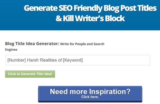 Inbound now blog title generator