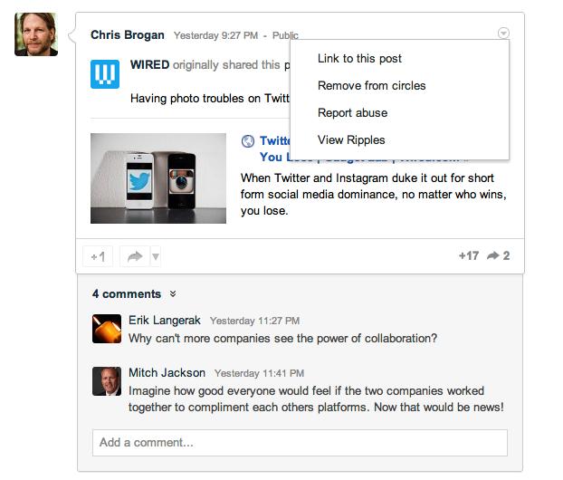 Influencer outreach using Google+