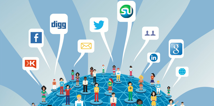 Link building through social media