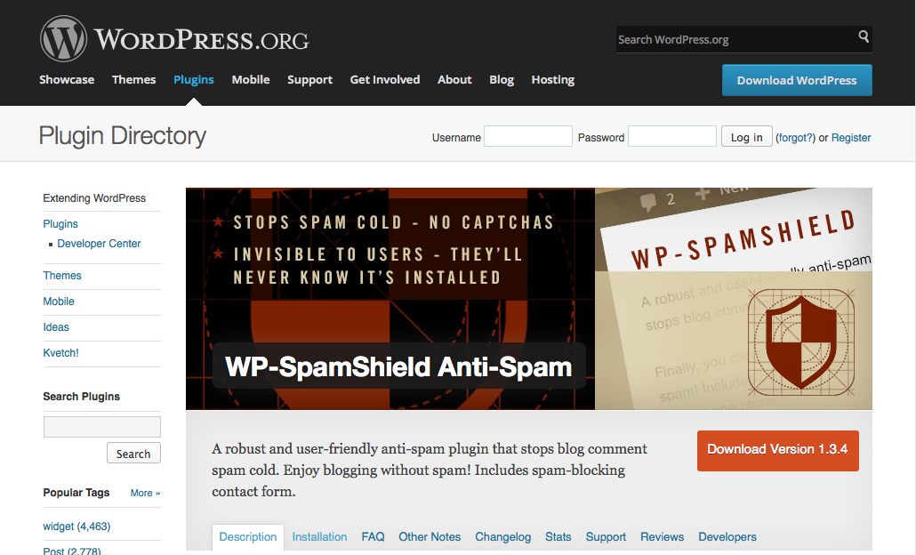 WP-Spamshield Anti-Spam