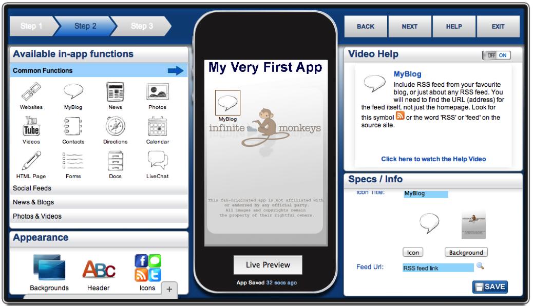 AppMakr screenshot