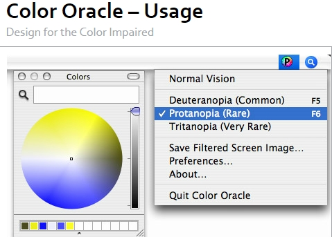 Color oracle screenshot