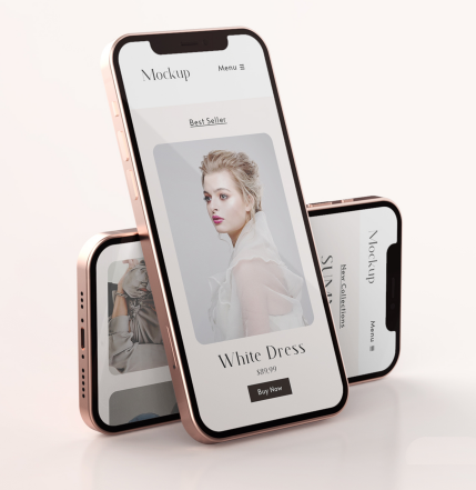 Example of product display using mobile app